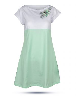 پیراهن زنانه 0797- سبز زمردی (2)
