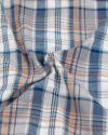 پیراهن چهارخانه مردانه vk991- خاکستری محو (4)