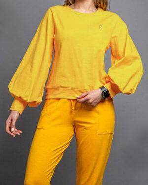 بلوز زنانه 1307- زرد (1)