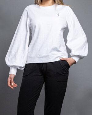بلوز زنانه 1307- سفید (2)