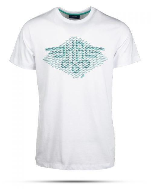 تیشرت طرح چاپی مردانه 0903- سفید (2)