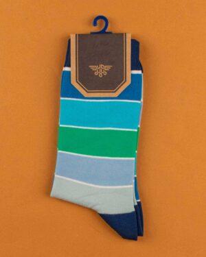 جوراب نخی 4T5- آبی (2)
