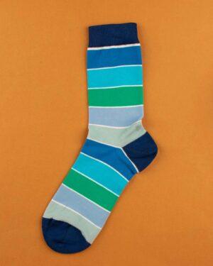 جوراب نخی 4T5- آبی (3)