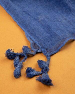 شال زنانه نخی 1441- آبی بنفش تیره (1)