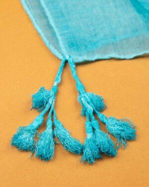 شال زنانه نخی 1441- آبی روشن (1)