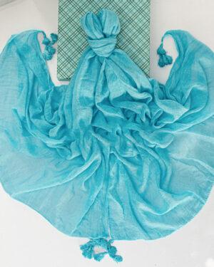 شال زنانه نخی 1441- آبی روشن (3)