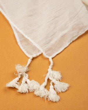 شال زنانه نخی 1441- سفید (1)