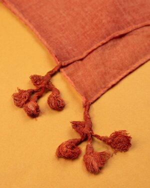 شال زنانه نخی 1441- قرمز نارنجی (1)
