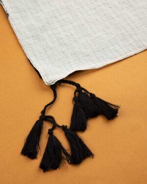 شال زنانه 1461- سفید (2)