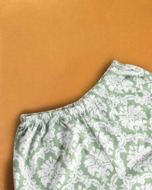 شلوارک زنانه 0739- سبز کمرنگ (5)