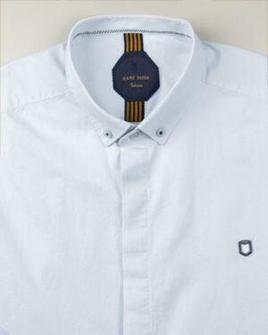 پیراهن آستین کوتاه مردانه 4004- آبی یخی (1)