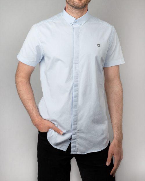 پیراهن آستین کوتاه مردانه 4004- آبی یخی (4)