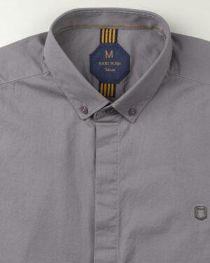 پیراهن آستین کوتاه مردانه 4004- خاکستری (3)