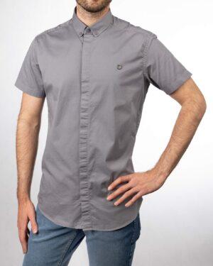 پیراهن آستین کوتاه مردانه 4004- خاکستری (4)