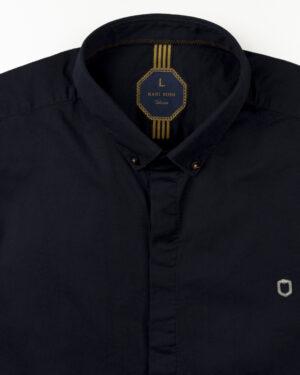 پیراهن آستین کوتاه مردانه 4004- سرمه ای تیره (3)