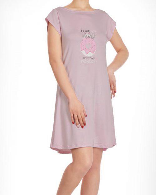 پیراهن زنانه 0777- صورتی (1)