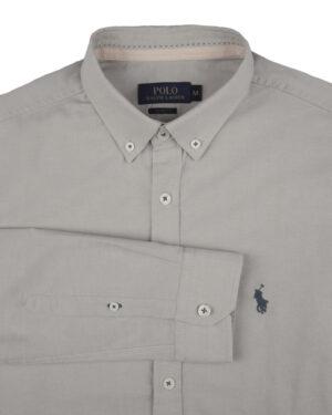 پیراهن مردانه 11031-T21- خاکستری محو (3)