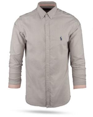 پیراهن مردانه 11031-T21- خاکستری محو (6)