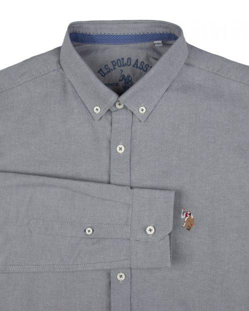 پیراهن مردانه 11031-T21- طوسی کمرنگ (4)