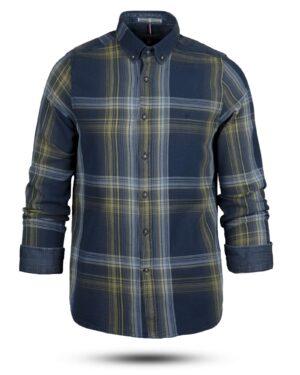 پیراهن نخی مردانه VK990- زرد (1)