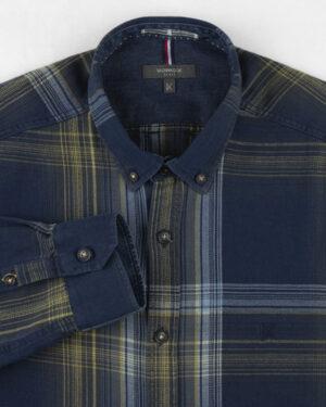 پیراهن نخی مردانه VK990- زرد (3)