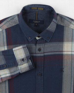 پیراهن نخی مردانه VK990- قرمز (3)