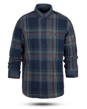 پیراهن نخی مردانه VK990- نارنجی تیره (1)