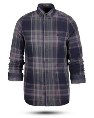 پیراهن نخی مردانه VK990- کالباسی (1)