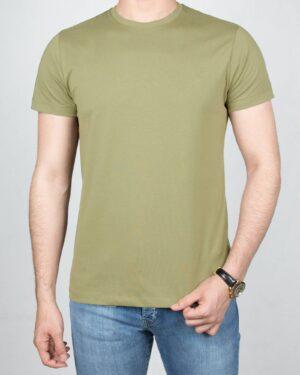 تیشرت بیسیک مردانه VKTI981101- زیتونی (1)