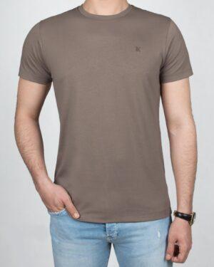 تیشرت بیسیک مردانه VKTI981101- طوسی قهوه ای (1)