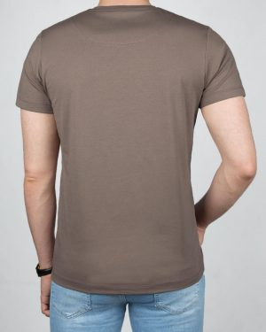 تیشرت بیسیک مردانه VKTI981101- طوسی قهوه ای (2)