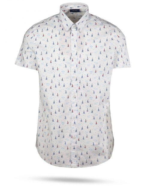 پیراهن مردانه هاوایی 4012- سفید (1)