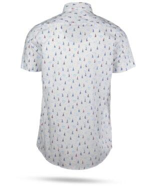 پیراهن مردانه هاوایی 4012- سفید (2)