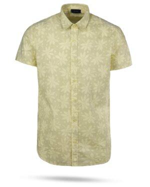 پیراهن مردانه هاوایی 4012- لیمویی (1)