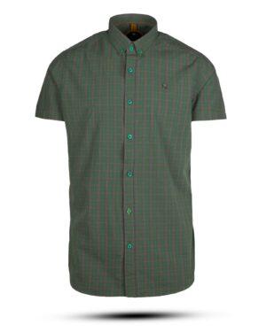 پیراهن مردانه چهارخانه 4005- سبز (2)