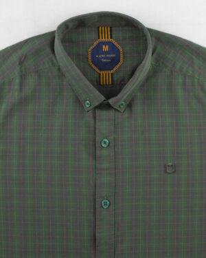 پیراهن مردانه چهارخانه 4005- سبز (8)