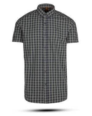 پیراهن مردانه چهارخانه 4005- سرمه ای تیره (1)