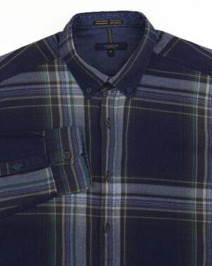 پیراهن نخی مردانه VK990- آبی آسمانی (3)