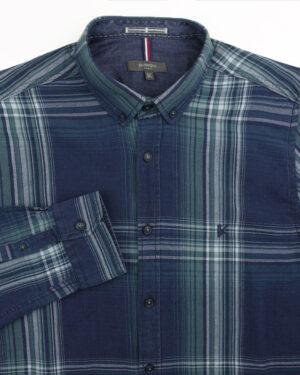 پیراهن نخی مردانه VK990- سرمه ای (3)