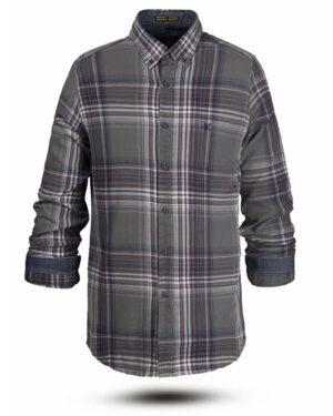 پیراهن نخی مردانه VK990- گلبهی (4)