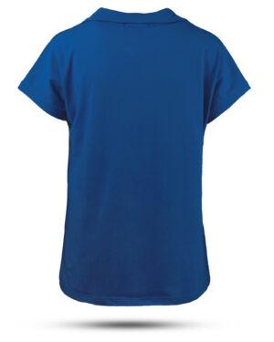 تیشرت زنانه بیسیک 1359- آبی کاربنی (2)