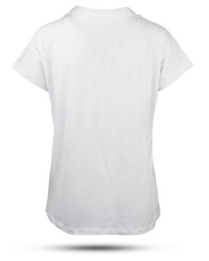 تیشرت زنانه بیسیک 1359- سفید (2)