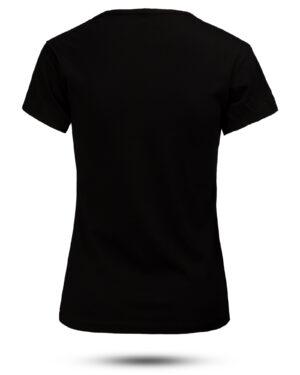 تیشرت زنانه طرح داد 1533012- مشکی (2)