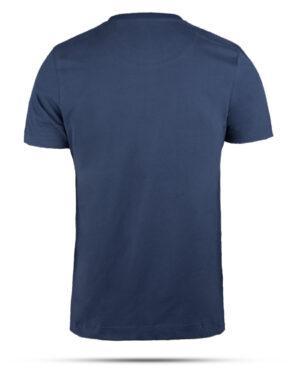 تیشرت نخی مردانه 00475- آبی کاربنی (2)