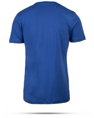 تیشرت پنبه ای مردانه 00457- آبی کاربنی (2)