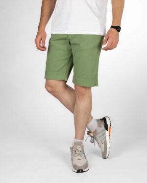 شلوارک کتان مردانه VK001- سبز خزه ای (1)