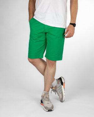 شلوارک کتان مردانه VK002- سبز چمنی (1)