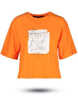 نیم تنه نخی 168901- نارنجی تیره (1)