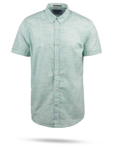 پیراهن مردانه آستین کوتاه VK992- سبز دریایی (1)