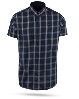 پیراهن مردانه چهارخانه 4011- سرمه ای (1)
